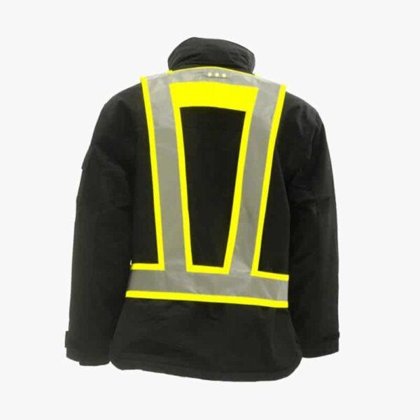 LightVest geel met voor ën achter Led verlichting