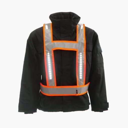 Light vest RWS oranje met voor-, acjter en schouderverlichting