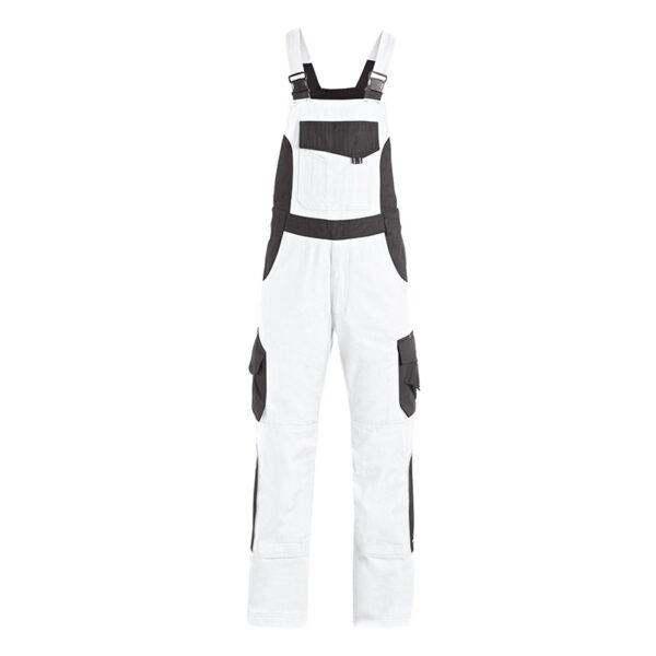 FHB ECKHARD Tuinbroek Twill Wit-Antraciet - Witte Raaf Bedrijfskleding