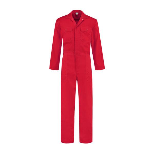 Bestex Kinderoverall 100% Katoen (KOV100) rood - Witte Raaf Werkkleding