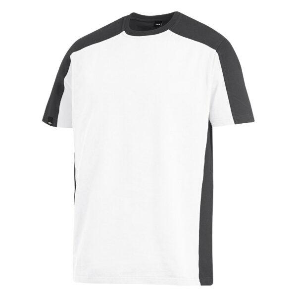 FHB MARC T-Shirt tweekleurig Wit-Antraciet - Witte Raaf Bedrijfskleding