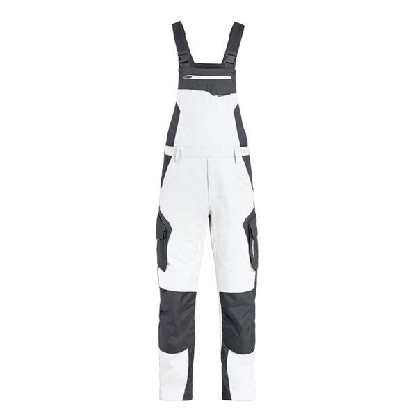 FHB PASCAL Tuinbroek Wit-Antraciet - Witte Raaf Bedrijfskleding
